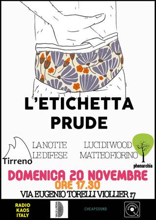 L'etichetta prude, la trasmissione evento in diretta da Radio Kaos Italy