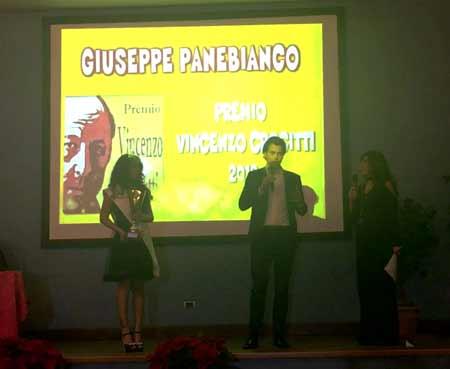 Giuseppe Panebianco vincitore del Premio Vincenzo Crocitti