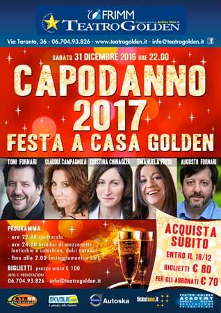 Capodanno 2017 al Teatro Golden di Roma
