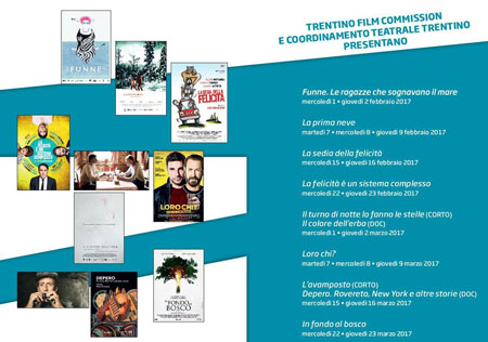 Al cinema con Trentino Film Commission