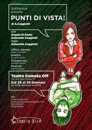 Punti di vista, lo spettacolo in scena al Teatro Cometa Off di Roma