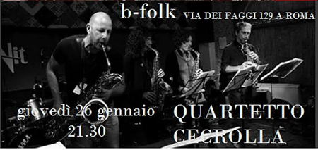 Quartetto Cecrolla in concerto al B-Folk