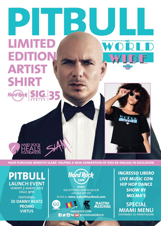 Hard Rock Cafe Roma, serata rap all'insegna di Pitbull
