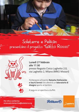 Soleterre e Pelikan presentano Gatto Rosso con Natasha Stefanenko e Vauro Senesi