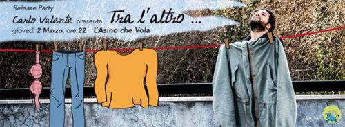 Carlo Valente presenta La Trattativa Sandro – Mura a L'Asino che Vola di Roma