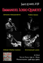 Emmanuel Losio Quartet live al B-Folk