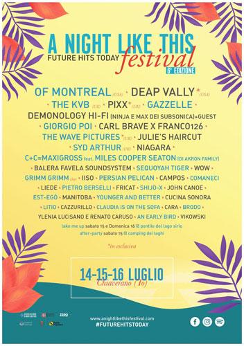 A Night Like This Festival, il celebre festival europeo torna a Chiaverano