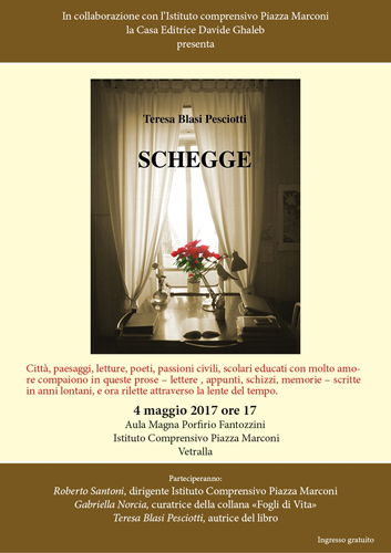 Schegge, un libro di Teresa Blasi Pesciotti