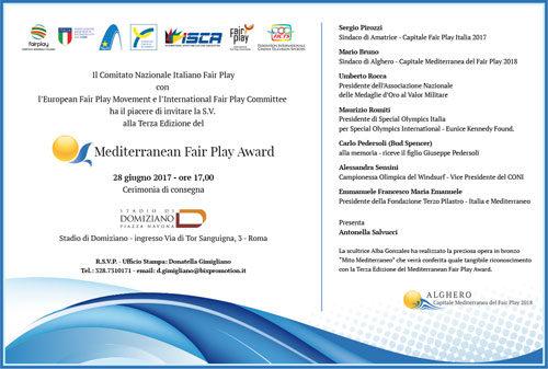 Mediterranean Fair Play Award, al via la III edizione