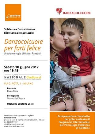 """Il 10 giugno Soleterre e Danzacolcuore al Teatro Nazione """"Chebanca!"""" di Milano per lo spettacolo di raccolta fondi """"Danzacolcuore per farti felice"""""""