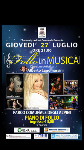 I Thema in concerto a Piano di Follo sul palco di Follo in musica
