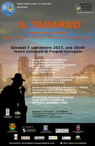 Il tabarro di Giacomo Puccini in scena a Pergine Valsugana