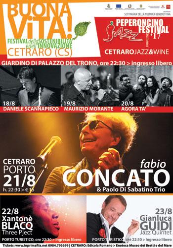 Fabio Concato in concerto al Peperoncino Jazz a Cetraro