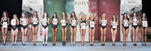 Miss Italia, flash mob #iononhopadroni contro il femminicidio