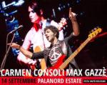 Carmen Consoli e Max Gazzè live al Palanord Estate al Parco Nord di Bologna