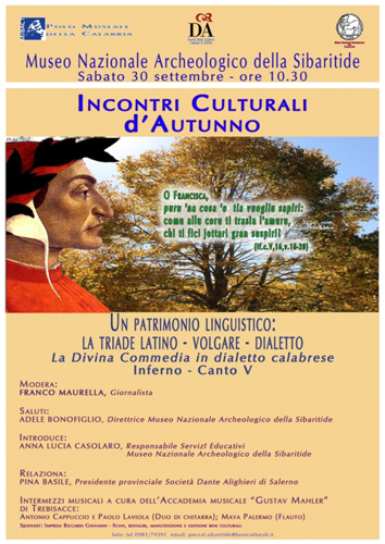 Incontri Culturali d'Autunno al Museo Nazionale Archeologico della Sibaritide