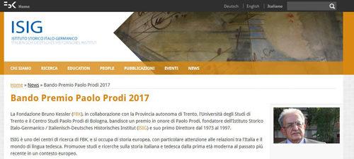 Premio Paolo Prodi 2017