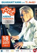 Umberto Tozzi, confermato per il 14 ottobre all'Arena di Verona il concerto 40 Anni che ti amo