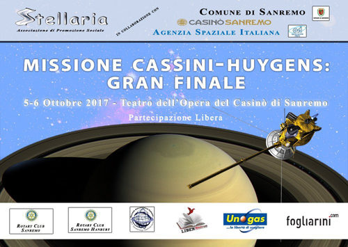 A Sanremo 2 giorni di conferenze e spettacoli per la missione 'Cassini-Huygens'