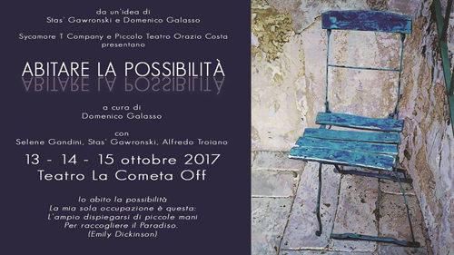 Abitare La Possibilità – Teatro La Cometa Off Roma