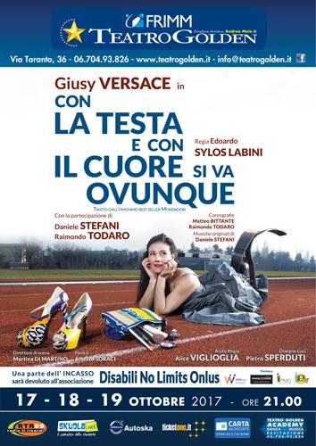 Giusy Versace al Teatro Golden