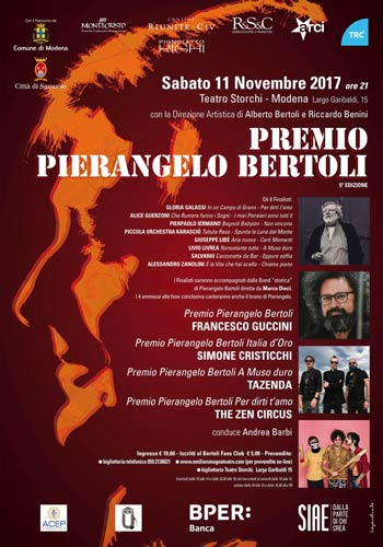 Premio Pierangelo Bertoli, gli 8 finalisti della sezione nuovi cantautori