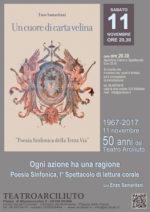 11 novembre 1967-2017 – 50 anni di Arciliuto, Un cuore di carta velina di e con Enzo Samaritani