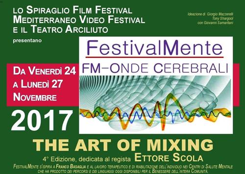 FestivalMente FM – Onde Cerebrali – THE ART OF MIXING, al via la IV edizione con l'Omaggio a Ettore Scola al Teatro Arciliuto