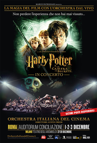 Harry Potter e la camera dei segreti in concerto a Roma questo week-end la prima nazionale