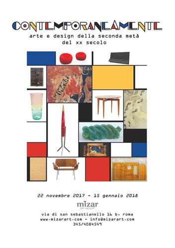 Contemporaneamente. Arte e design della seconda metà del XX secolo. La mostra alla Galleria Mizar di Roma