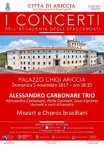 Grande ritorno del Trio Clarinetti di Alessandro Carbonare al Palazzo Chigi di Ariccia
