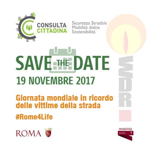 #Rome4Life, per ricordare le vittime della strada