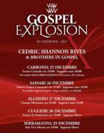 Gospel Explosion tra Alghero, Carbonia, Cuglieri, Sassari e Serramanna. Protagonista il gruppo statunitense Cedric Shannon Rives & Brothers in Gospel