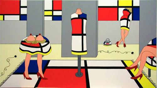 """Giampaolo Atzeni: """"Mondrian è di moda"""". Personale dell'artista per i cento anni della rivista """"De Stijl"""""""