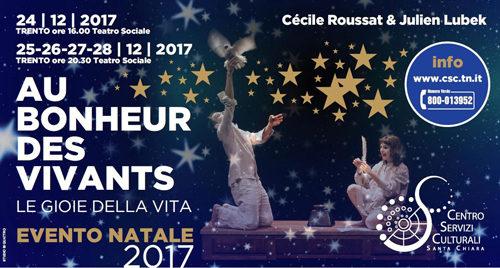 Per Natale, in scena al Teatro Sociale «LE GIOIE DELLA VITA»