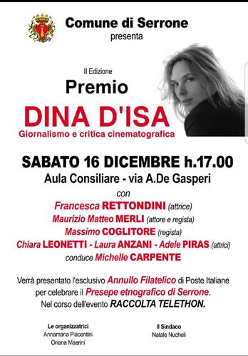 Annunciate le vincitrici della II^ Edizione del Premio Dina D'Isa: Cristiana Paternò, Elena Varriale, Lucilla Quaglia, Paola Dei e Prisca Civitenga