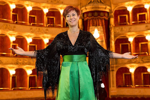 Veronica Simeoni in un recital al Teatro Palladium di Roma