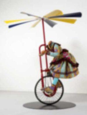 Yinka Shonibare con Girl on Flying Machine al Centro Arti e Scienze Golinelli