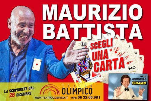 Maurizio Battista in Scegli una carta al Teatro Olimpico di Roma