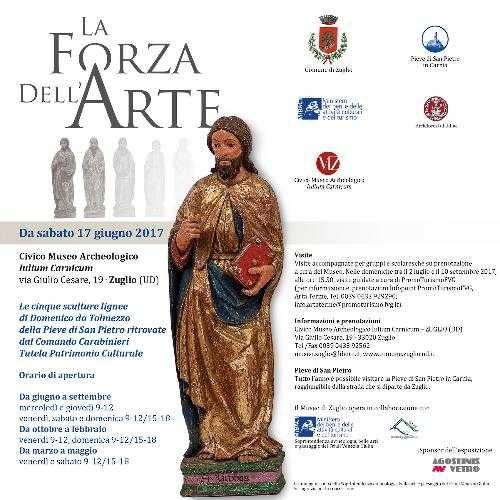 La Forza dell'Arte: le cinque sculture lignee ritrovate dell'altare di Domenico da Tolmezzo della Pieve di San Pietro