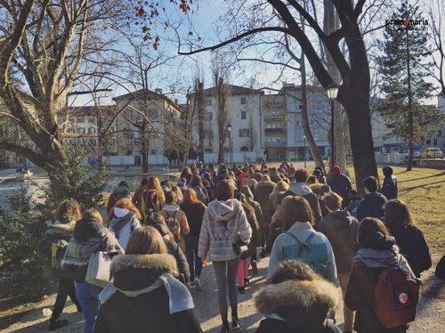 200 giovani sui luoghi della memoria di Trento con il Memowalk
