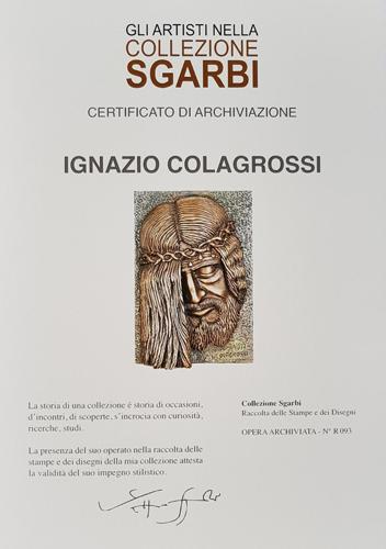 """La scultura di Ignazio Colagrossi nella """"Collezione Sgarbi"""" con le opere Il Volto di Cristo e San Giovanni Paolo II"""