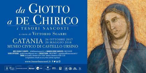 Da Giotto a De Chirico i Tesori Nascosti, la mostra a Catania