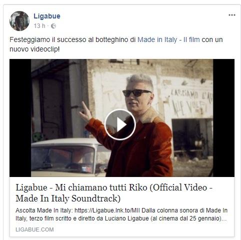 """Luciano Ligabue: online il video del brano """"Mi chiamano tutti Riko"""""""