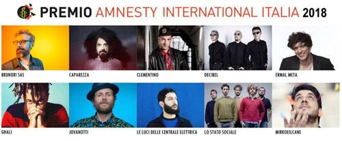 Premio Amnesty: quale sarà la canzone dell'anno?
