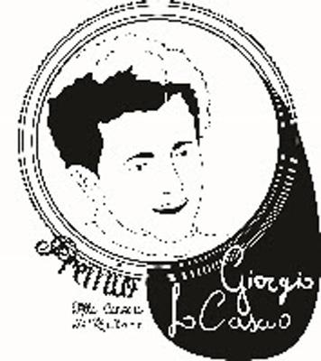 L'8° 'Premio Giorgio Lo Cascio' il 24 febbraio a Luca Gemma