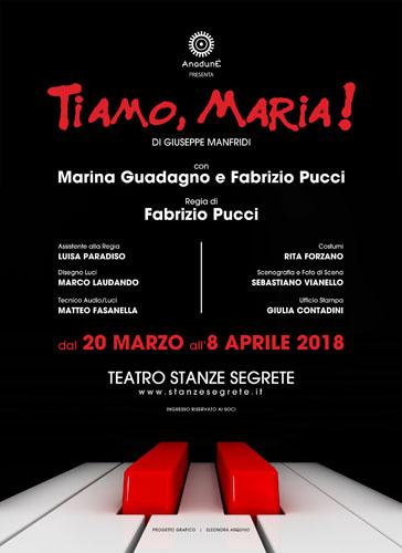 Ti Amo, Maria! di G. Manfridi con Marina Guadagno e Fabrizio Pucci al Teatro Stanze Segrete di Roma!