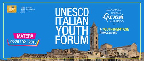 A Matera il primo Unesco Italian Youth Forum. La prima edizione dal 23 al 25 febbraio 2018