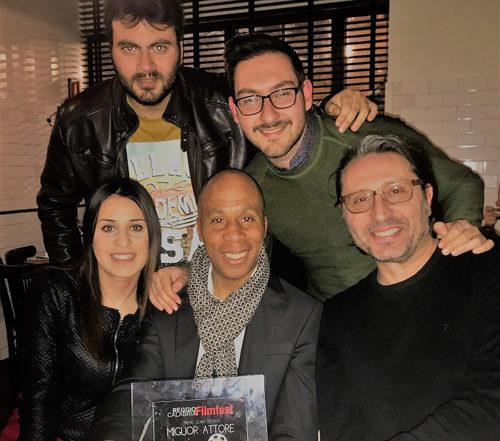 Philippe Boa migliore attore al Cortoreggio 2018 del Reggio Calabria FilmFest