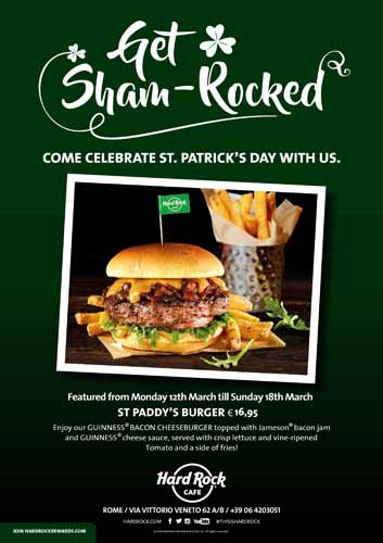 All'Hard Rock Cafe arriva St. Patrick's Day